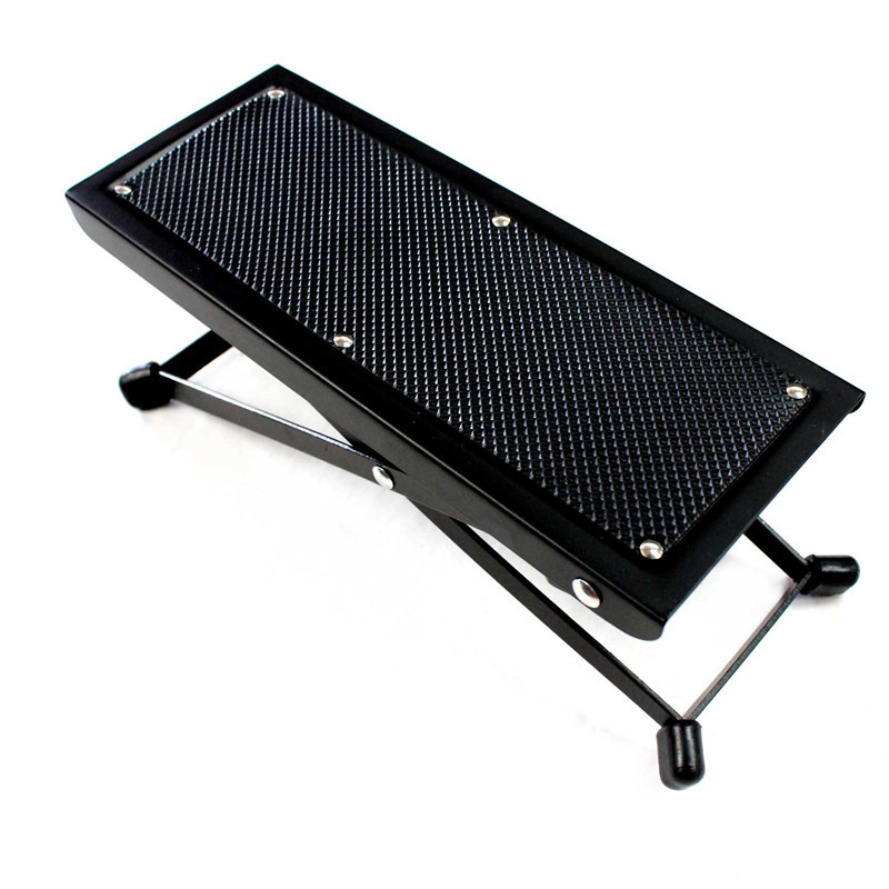 guitar footstool anti slip lifting height player foot stool rest stand adjustable pedal. Black Bedroom Furniture Sets. Home Design Ideas
