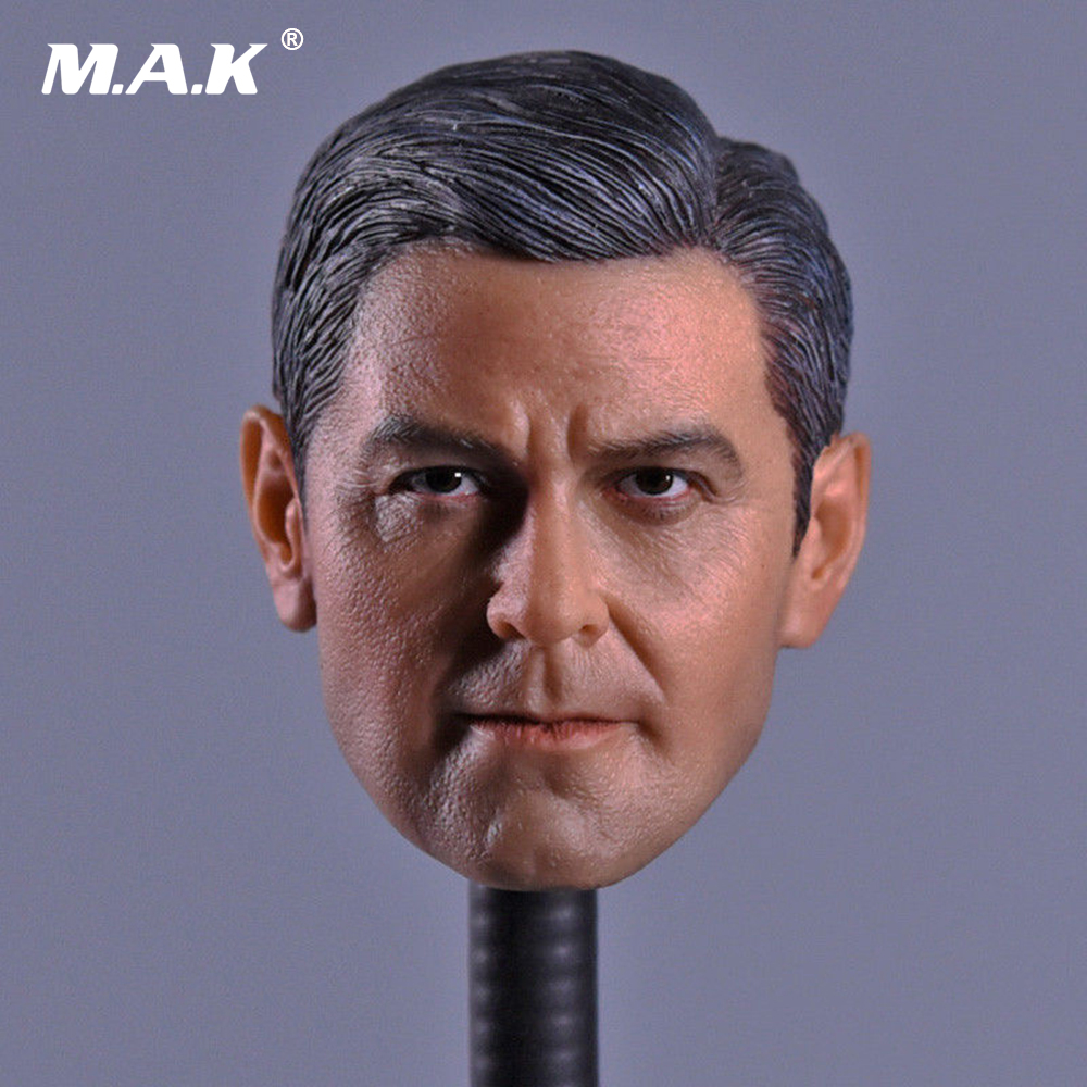 1/6 Head Sculpt George Clooney Head Carving for 12 Figure Doll Action Figure Accessory 1 6 scale figure doll head shape for 12 action figure doll accessories breaking bad jesse pinkman figure male head carved