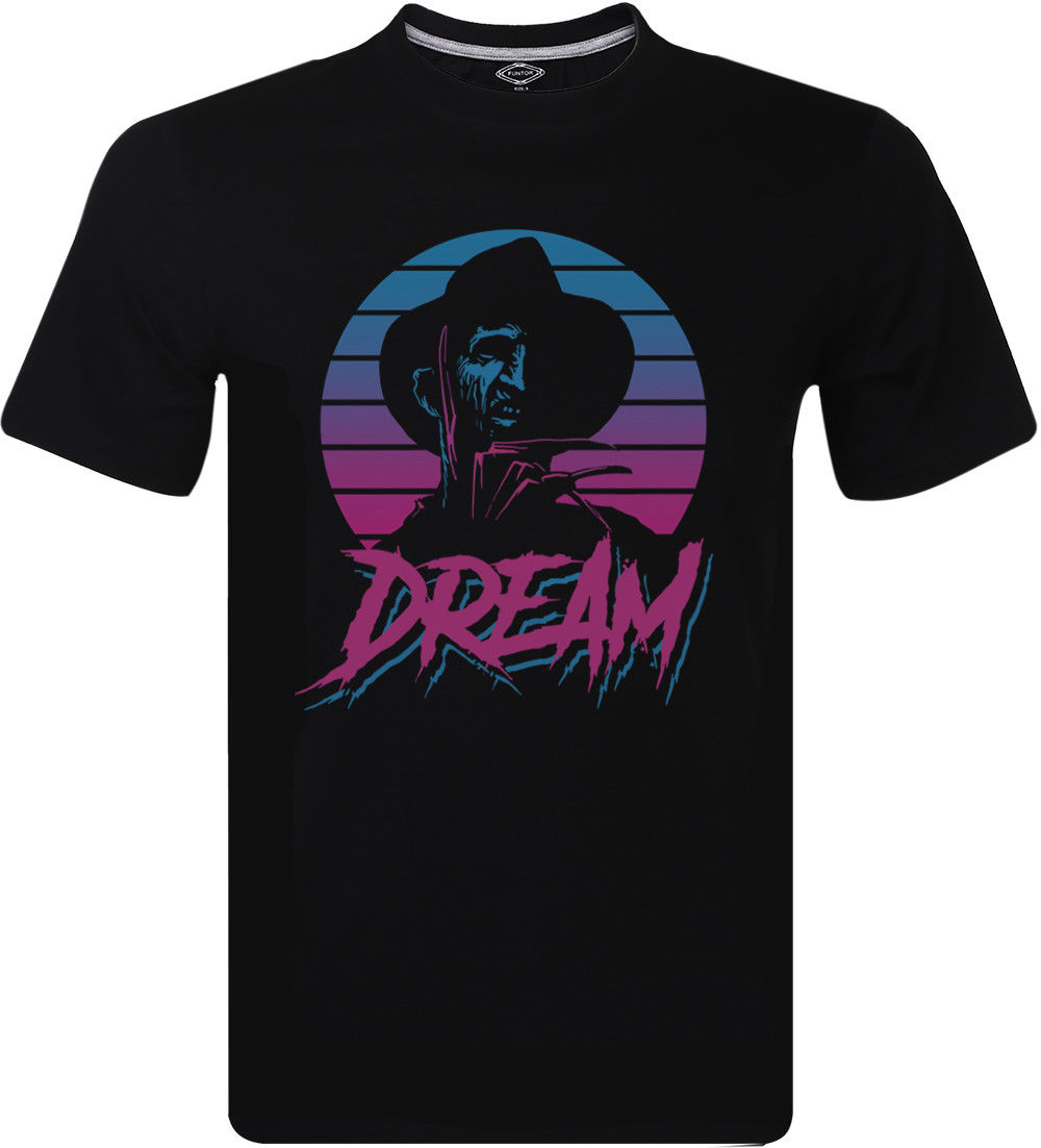 Dream Freddy Krueger T Shirt 80's Cult Film Horror Movie Graphic Men's Clothing Short Sleeve Round Neck T-Shirt Promotion