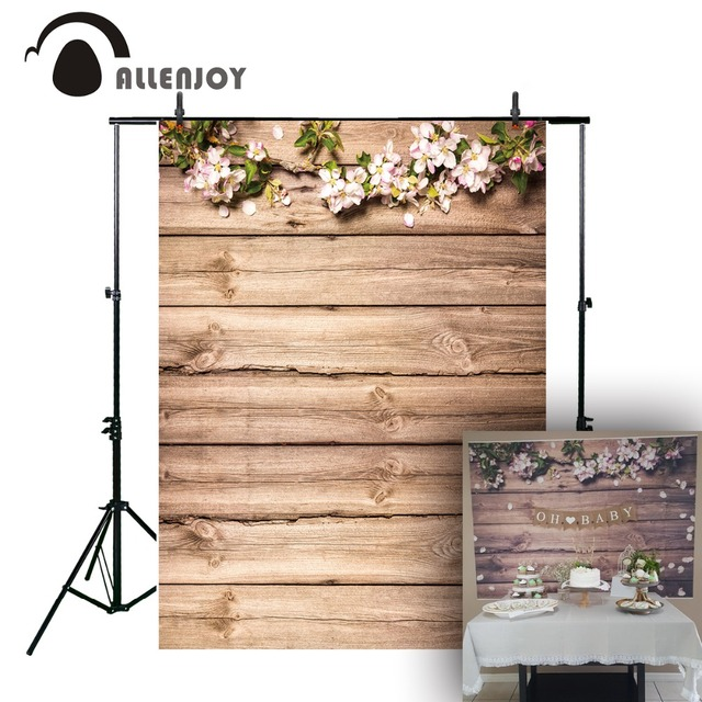 Allenjoy photography backdrop spring Rustic Bridal Baby shower Birthday photocall photophone retro photobooth leaves photo prop