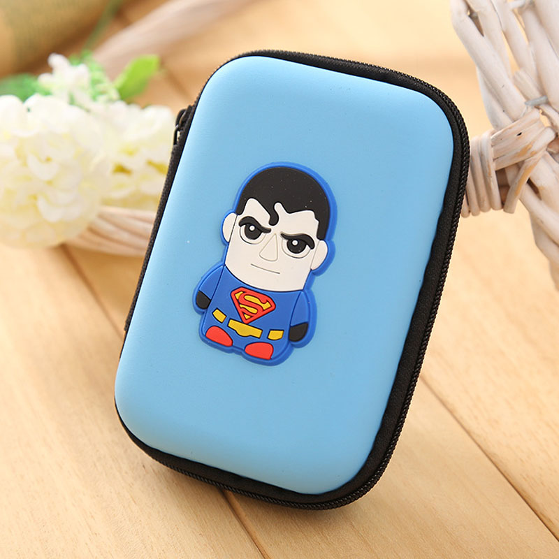 Popular Superman Silicone Coin Purse Mini Dollar Pouch Wallets Head Set Cable Storage Bags Cartoon Anime Rectangle Zipper Wallet кардиган fly