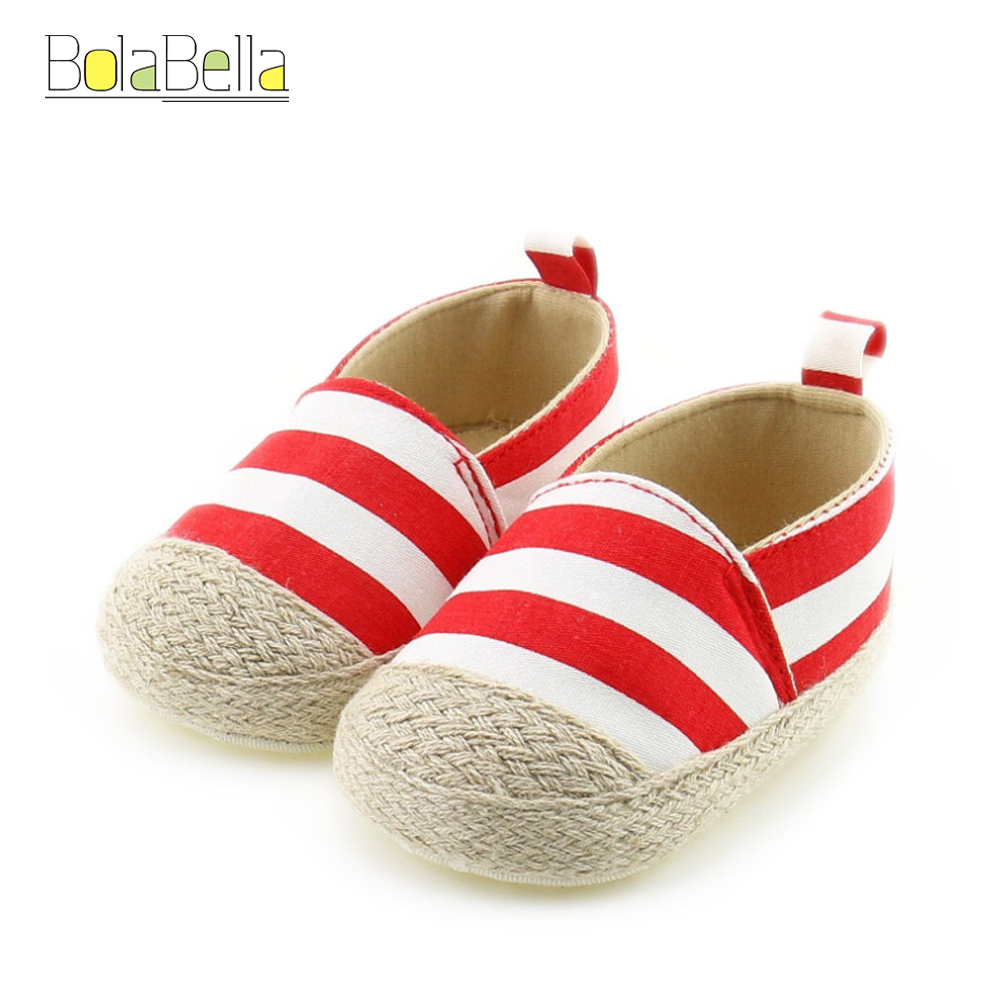 Bolabella Leisure design Hot Newborn Baby First Walk Shoes Boy Girl Blue&Red Color Canva ...