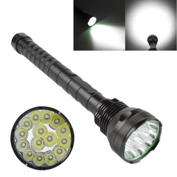 цена LED Flashlight Torch 9000Lm 15x XM-L T6 LED IPX6 5 Light Mode Super Bright Flashlight 1200m Lighting Distance for Camping Hiking онлайн в 2017 году