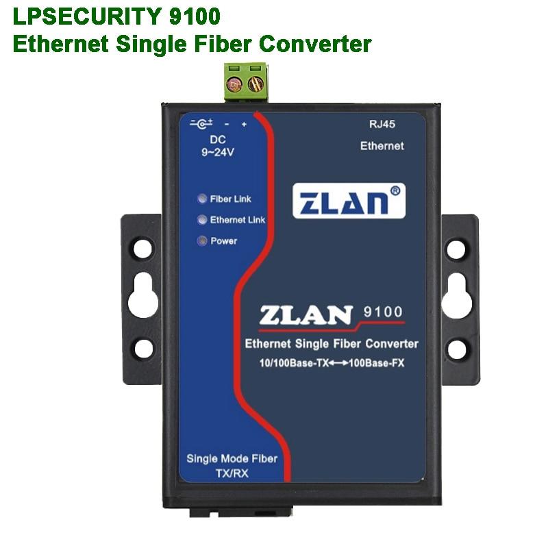 Long Distance Ethernet Transmission Via Fiber/Ethernet RJ45 To Optical Signal/Single-mode Single-fiber/Optoelectric Converter