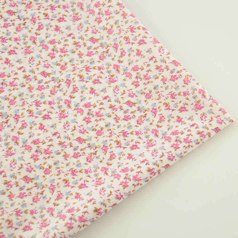 Booksew 100% Cotton Fabric Flowers Designs Patchwork Tecido Sewing Cloth Home Textile Dolls Decoration Plain Tissue Art Work CM