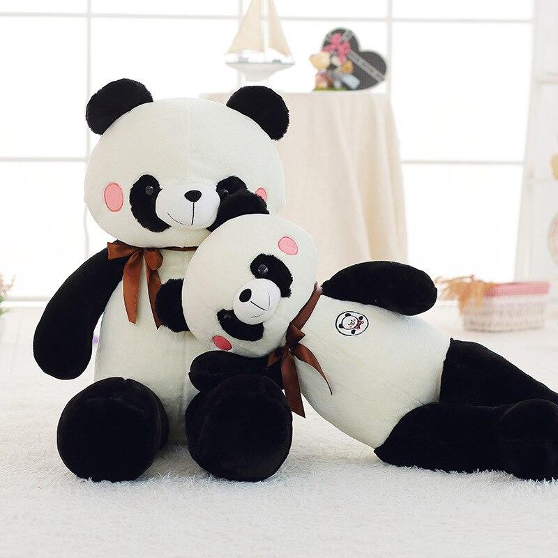 Large panda plush toys Valentine 's Day girls gifts sleeping dolls children hug big bear toy 45cm high quality genuine metoo cartoon angela plush toys sleeping rabbit dolls for children birthday gifts 1pcs