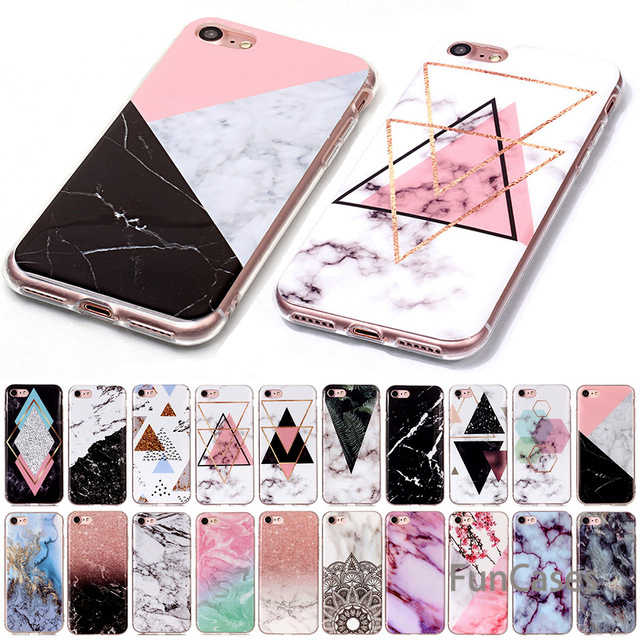 Mármol suave TPU IMD funda de silicona para iPhone XS Max XR X 4 4S 5 5C 5S iPhone 6 funda S 7 8 Plus para iPod Touch 5 6