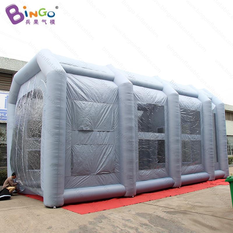 Livraison gratuite 10X5X5 mètres géant gonflable camion cabine de peinture en aérosol avec souffleur durable exploser camion peinture cabine jouet tentes