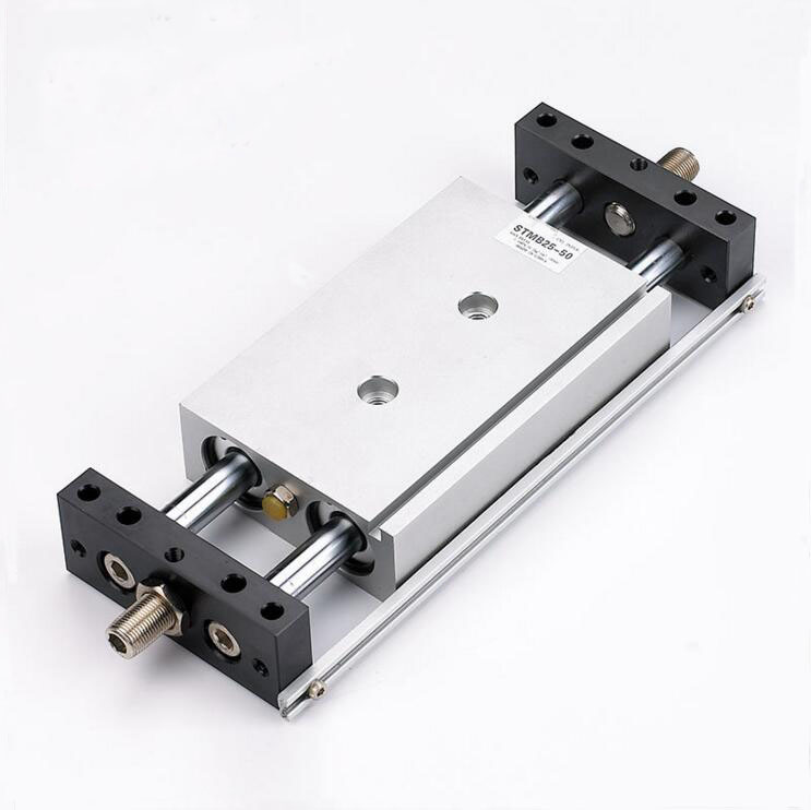 Bore 25mm*75mm stroke Airtac Type Double Action STMS Type sliding table Cylinder acq100 75 b type airtac type aluminum alloy thin cylinder all new acq100 75 b series 100mm bore 75mm stroke