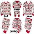2016 Nova Família de Natal Alces Pijama Natal Pijamas conjuntos de pijama Família Família de Algodão de Alta Qualidade de Natal Pijamas conjuntos