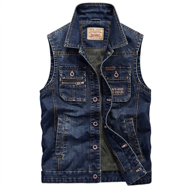 2016  Denim Vest Men Jeans  Casual Vintage Jacket  Waistcoat Men Fashion Brand-clothing  Vests chaleco hombre