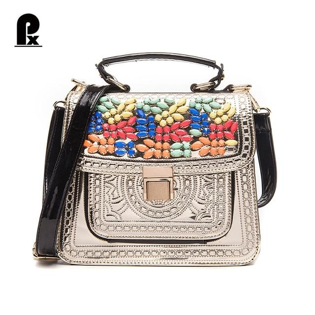 ce36b0e7f320 Pacento Я роскошные сумки женские сумки дизайнер сумка Италия Braccialini  Стиль бисероплетение лоскут feminina мешок сломя