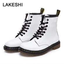 QUANZIXUAN Genuine Leather Women Boots Ankle Boots
