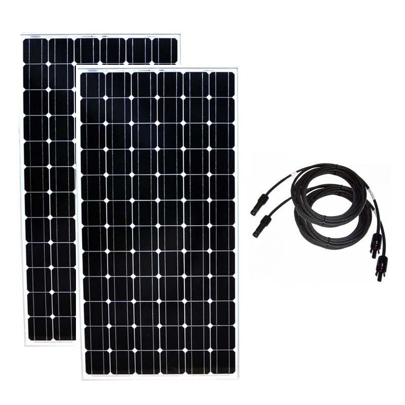 TUV  Panneaux Solaire 400 w Solar Panel 24v 200w 2 Pcs Solar Battery Charger Caravan Car Boat Turbine Portable Power System