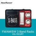 NewKanon KN-162URT multibanda SW AM FM radio portable TF/tarjeta SD batería recargable USB luz de la antorcha envío gratis