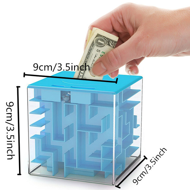 Primary Labyrinth Players 3D Maze Storage Tank Money Box Magic Cube Intelligence Toys for Children Kids and Adults Puzzle Gift 5