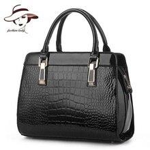 2017 Fashion Patent PU Leather Handbags Socialite Crocodile Grain Women Messenger Bags Fashion Women Shoulder Bags Women Bag