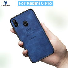 For Xiaomi Redmi 6 Pro Original PINWUYO VINTAGE PU Leather Protective Phone Case for Mi Shockproof