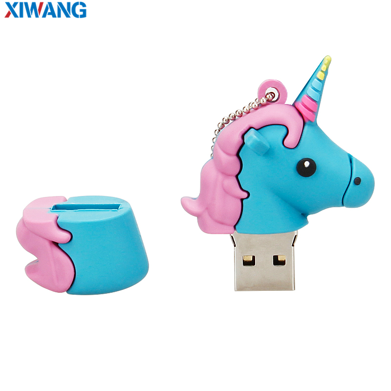 Image 5 - XIWANG USB Flash Drive 128GB Real capacity Pendrive 64GB 32GB 16GB 8GB4GB Cartoon lovely Horse Pen drive USB Stick free shipping-in USB Flash Drives from Computer & Office