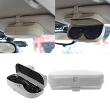 1be939e135 QILEJVS Universal Car Visor Glasses Case Organizer Box Sunglasses Storage  Sunshade