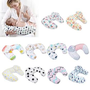 Almohadas de lactancia para bebés maternidad almohada de lactancia para bebés en forma de U cojín de cintura de alimentación de algodón de Newbron para amamantar