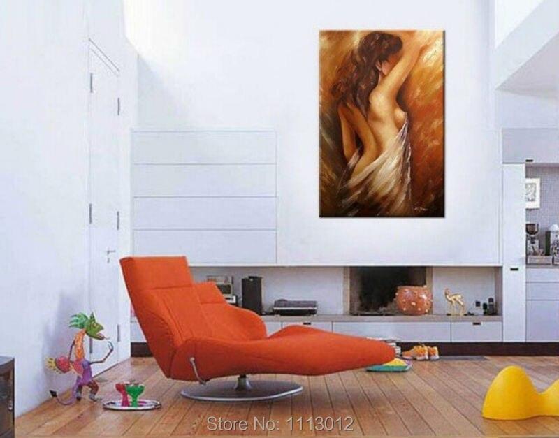 Ročno izdelane velike seksi vroče ženske gole slike z oljem golo - Dekor za dom - Fotografija 3
