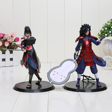 18cm Sasuke Madara 2Pcs Set PVC Action Figure