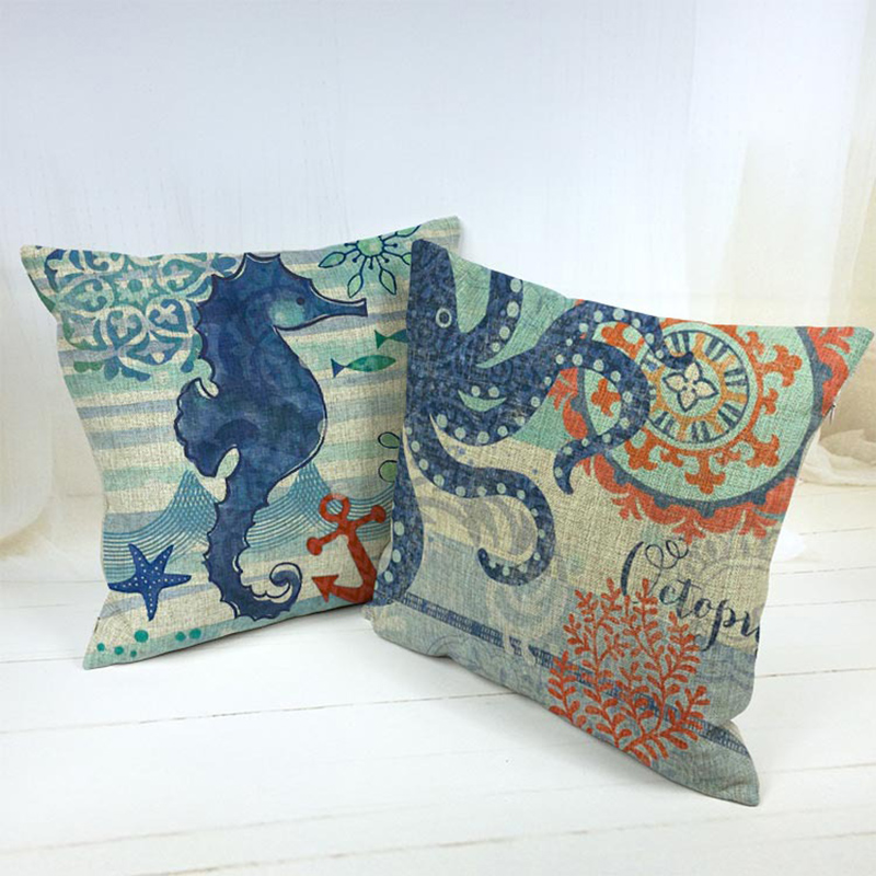 Square Benthos Pillowcase Cushion Cover Pillow Case For Sofa Office Home Decor F