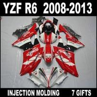 Hot sale Injection mold for YAMAHA R6 08 09 10 11 12 13 white black red fairings YZF R6 2008 2009 2013 fairing kit WJN74