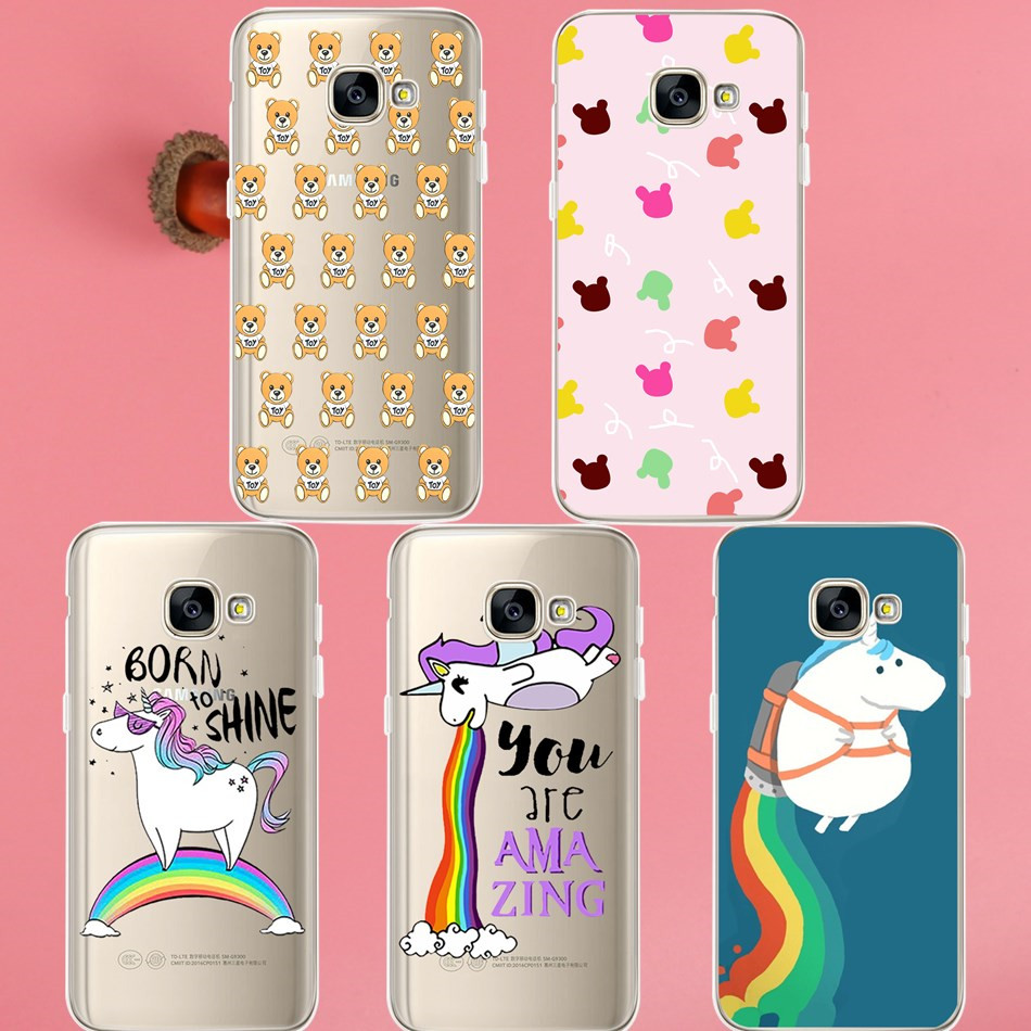 Unicorn Mickey head Case For Samsung Galaxy S3 S4 S5 S6 S7 Edge S8 Plus A3 A5 J1 J2 J3 J ...