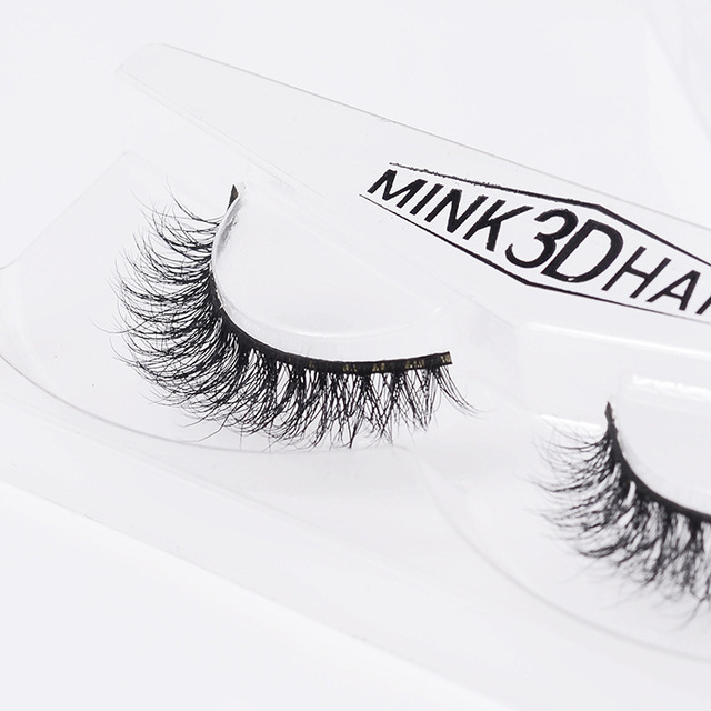 2016 New Arrival 1Pair Fake Eyelashes Individual 100% Real Mink Lashes New False Eyelashes Soft Box  Luxury  Makeup Beauty A04