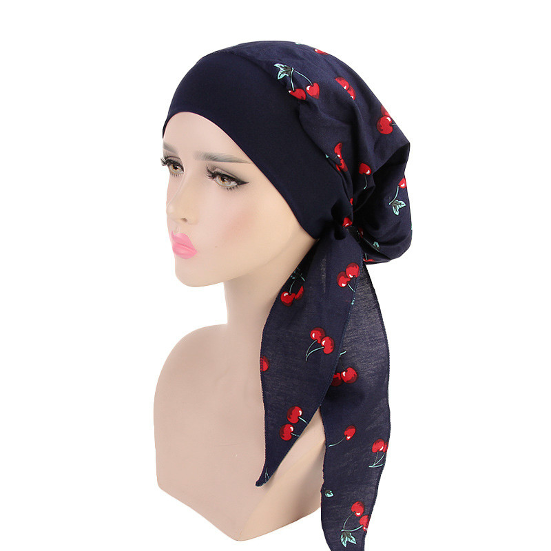 Women Elastic Inner Hijabs Hat Pastoral Style Lady Hair Bands Fashion Muslim Turban Hijabs Hats Indian Caps Wrap Cap Women Women's Clothings Women's Scarf/Shawls/Caps