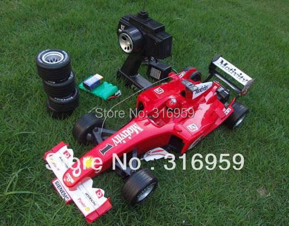 все цены на RC Car Racing F1 Formula One Car 1:10 Radio Control cars with 4 spare tyres Flashing lights car model electronic toy vehicles онлайн