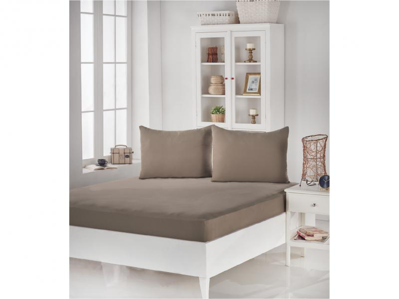 Set KARNA, ACELYA, bed sheet with two наволочками, 160*200*30 cm, beige two tone handle eye brush set 3pcs