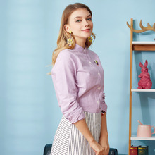 3da9a78bfa93b Veri Gude Plus Size Women Blouses and Shirts Long Sleeve Vintage Oxford  Blouse and Shirts 100% Pure Cotton ...