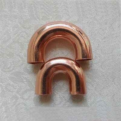 9.5x0.5x18mm 180 degrés retour coude cuivre soudure tuyau raccord plomberie pour gaz eau huile