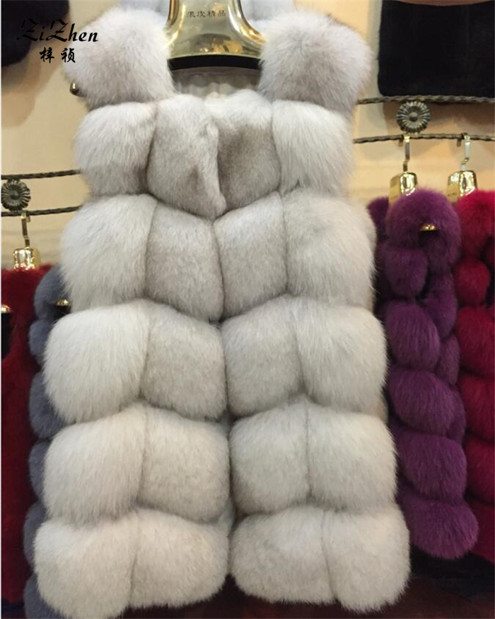 Zizhen winter echte fuchspelz weste frauen volle fell weste warme - Damenbekleidung - Foto 1