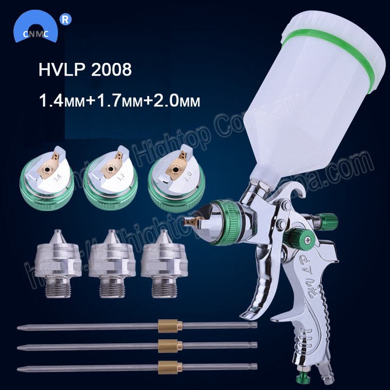 HVLP 2008 farbe spray gun gravity-feed 1,4mm 1,7mm 2,0mm auto Auto gesicht Malen spray gun