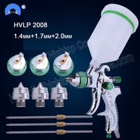 HVLP 2008 paint spray gun set gravity feed 1.4mm 1.7mm 2.0mm DIY auto Car face Paint spray gun