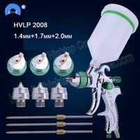 HVLP 2008 verf spuitpistool set gravity feed 1.4mm 1.7mm 2.0mm DIY auto gezicht Verf spray gun