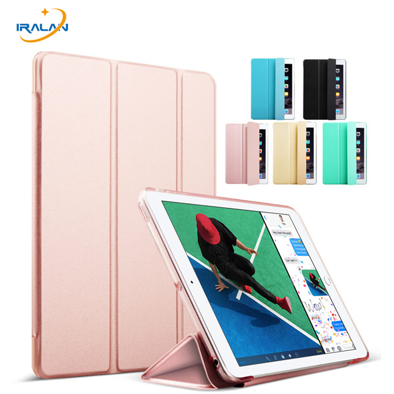 Case for iPad 9.7 inch 2017 New model PU Leather Ultra Slim Silicone soft Back Cover for iPad 2017 9.7 A1822 A1823+Stylus+film