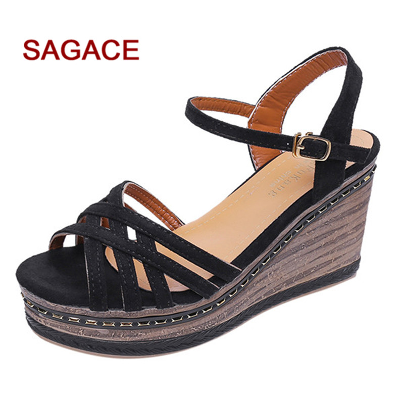Wedges Shoes Sandals Women Heels for Mujer Summer