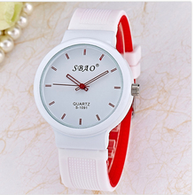 Sbao Silicone Fashion Watch Women Casual Children Watches Boys men Brand Luxury Mens Girl Female Student Kids Watch Quartz Clock