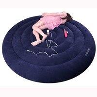 Надувная секс круглая кровать подушка мебель, стул диван флокирование подушки позиции Секс игрушки для Эротические пары продукты