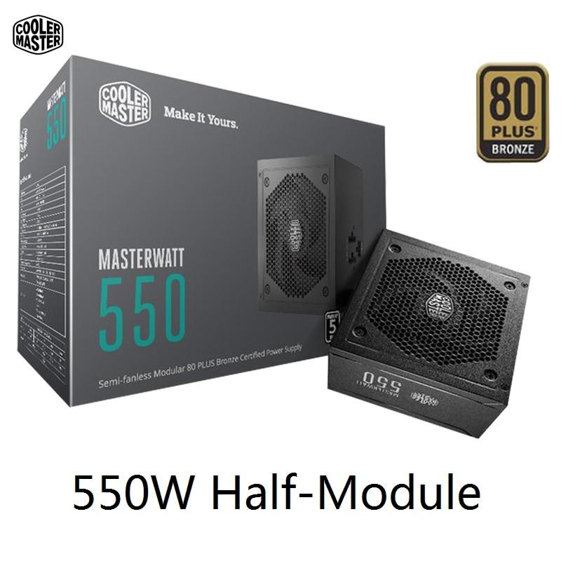 Cooler Master Half Module PC PSU For Game Office Rated 550W 550Watt 12cm Fan 12V ATX