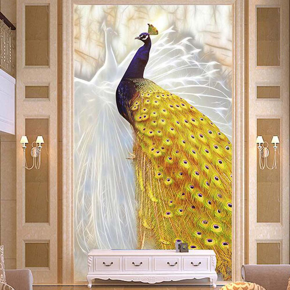 Aliexpress buy 3d embossed photo murals wallpaper peacock aliexpress buy 3d embossed photo murals wallpaper peacock entrance for living room tv background wall art decor wall paper murals custom size from amipublicfo Gallery