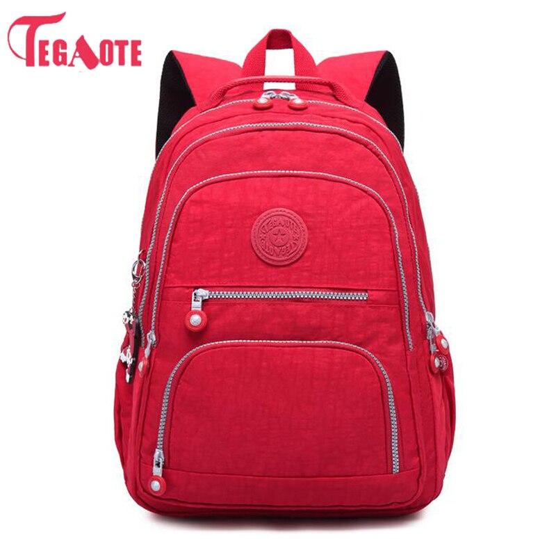 TEGAOTE School Backpack for Teenage Girl Mochila Feminina Women Backpacks Nylon Waterproof Casual Laptop Bagpack Female Sac A Do tegaote backpack women fashion school backpacks for teenage girls mochila feminina escolar bolsa travel bagpack female sac a do