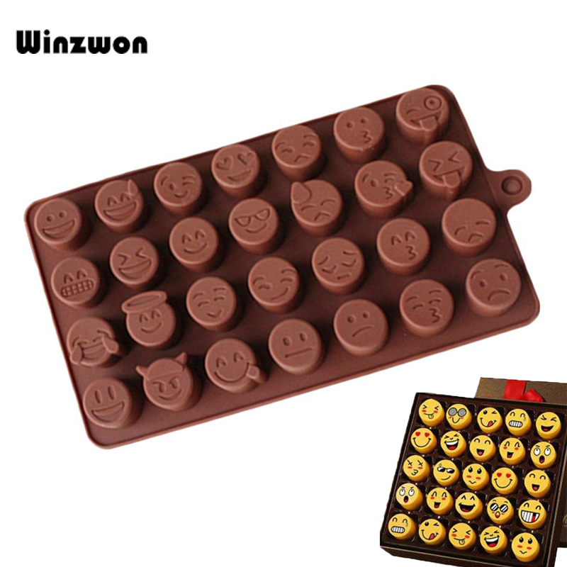 Friendly Aomily Diy Smile Chocolate Mould Silicone Soft Sugar Chocolate Bean Mold Candy Pudding Lovely Gift For Child Ice Cube Tray Mold Discounts Sale Baking & Pastry Tools