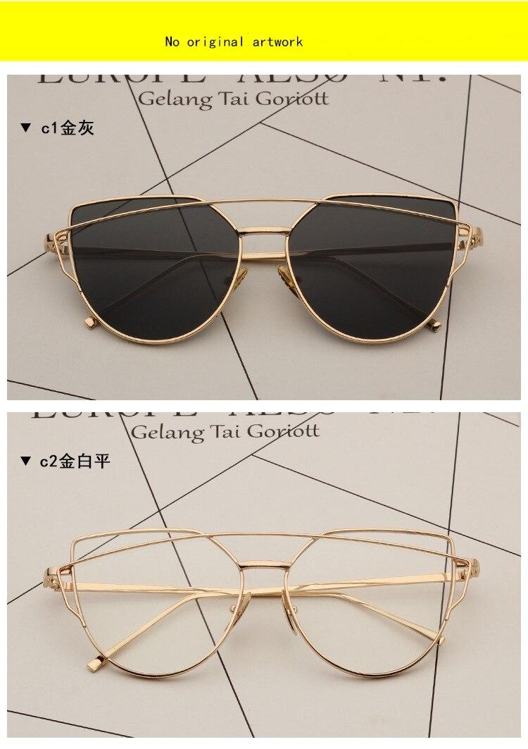 7784aed92 Óculos de sol Das Mulheres Designer De Marca Retro Oversize Cat Eye ...