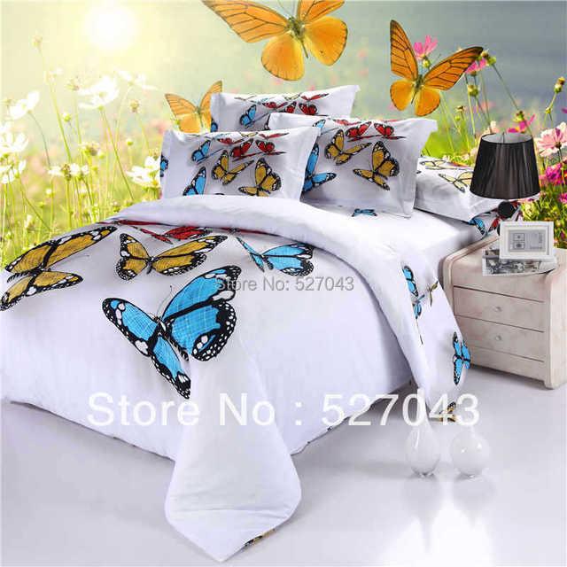 3d Schmetterling Volle Königin Größe ölgemälde Bettwäsche Set